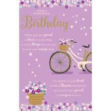 WHOLEHEARTEDLY Birthday Purple Bike
