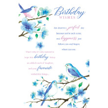 WHOLEHEARTEDLY Birthday Wishes Bluebird