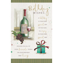 WHOLEHEARTEDLY Birthday wishes wine