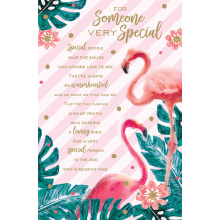 WHOLEHEARTEDLY For someone very special flamingo