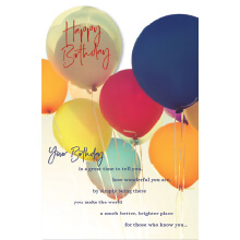WHOLEHEARTEDLY Happy Birthday Balloons