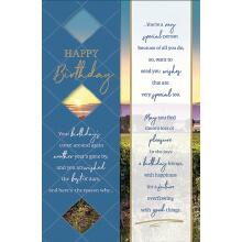 WHOLEHEARTEDLY Happy Birthday Blue Scenery