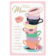 WHOLEHEARTEDLY MOTHER With love on you rbday Mum Teacups