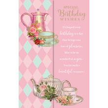 WHOLEHEARTEDLY Special Birthday Wishes Pink Teacup