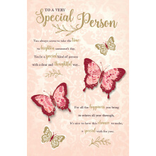 WHOLEHEARTEDLY To a very special person butterfly