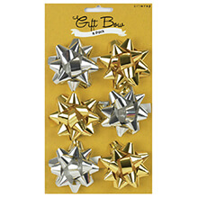 ARTWRAP Bow 6 Pack Gold and Silver