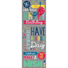 ARTWRAP GIFT BAG BOTTLE-A BAG BTL BRIGHT TEXT BAG