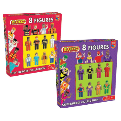 Blokko Assorted 8 Figure Pack