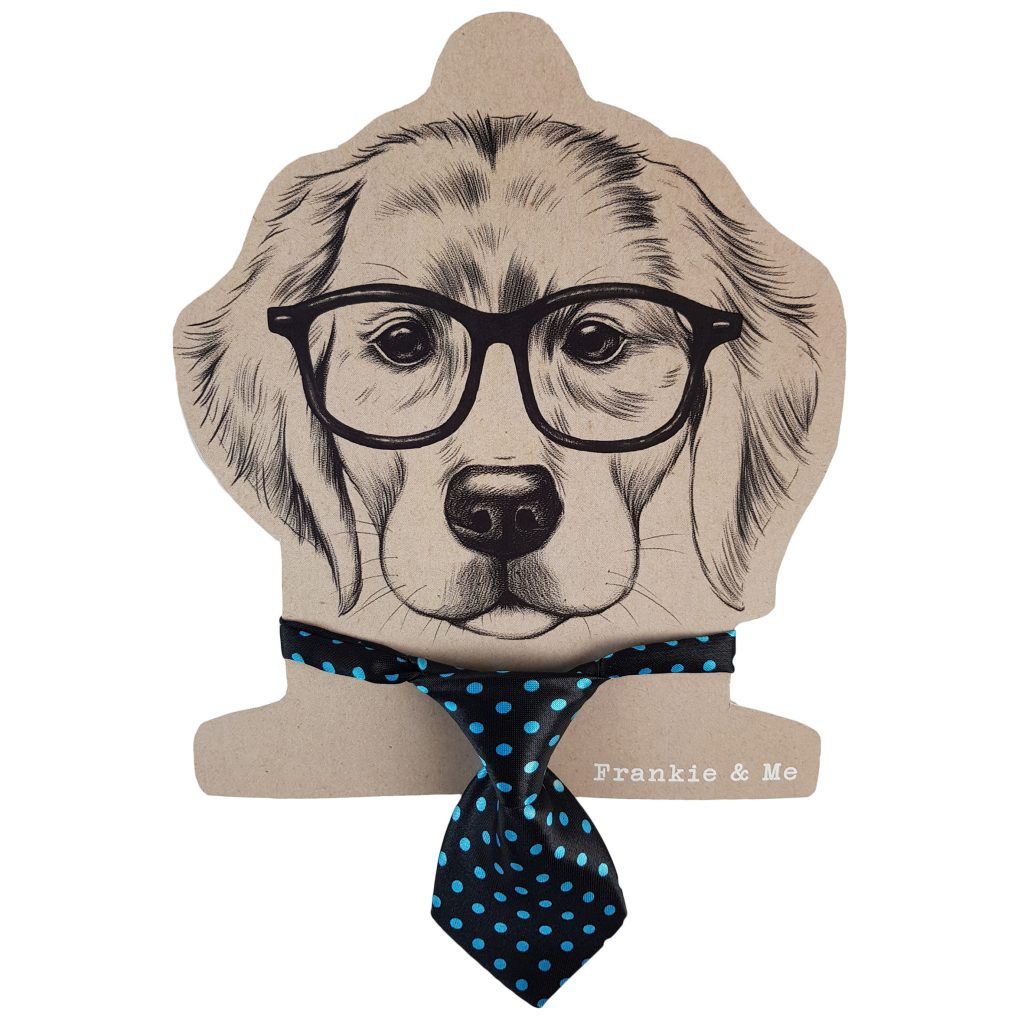 Frankie and Me Pet Accessories Blue Tie