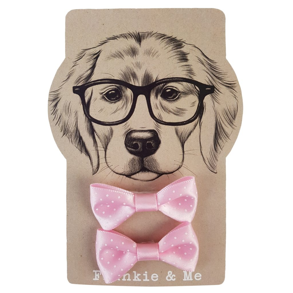 Frankie and Me Pet Accessories Pink Polka Dot Bows