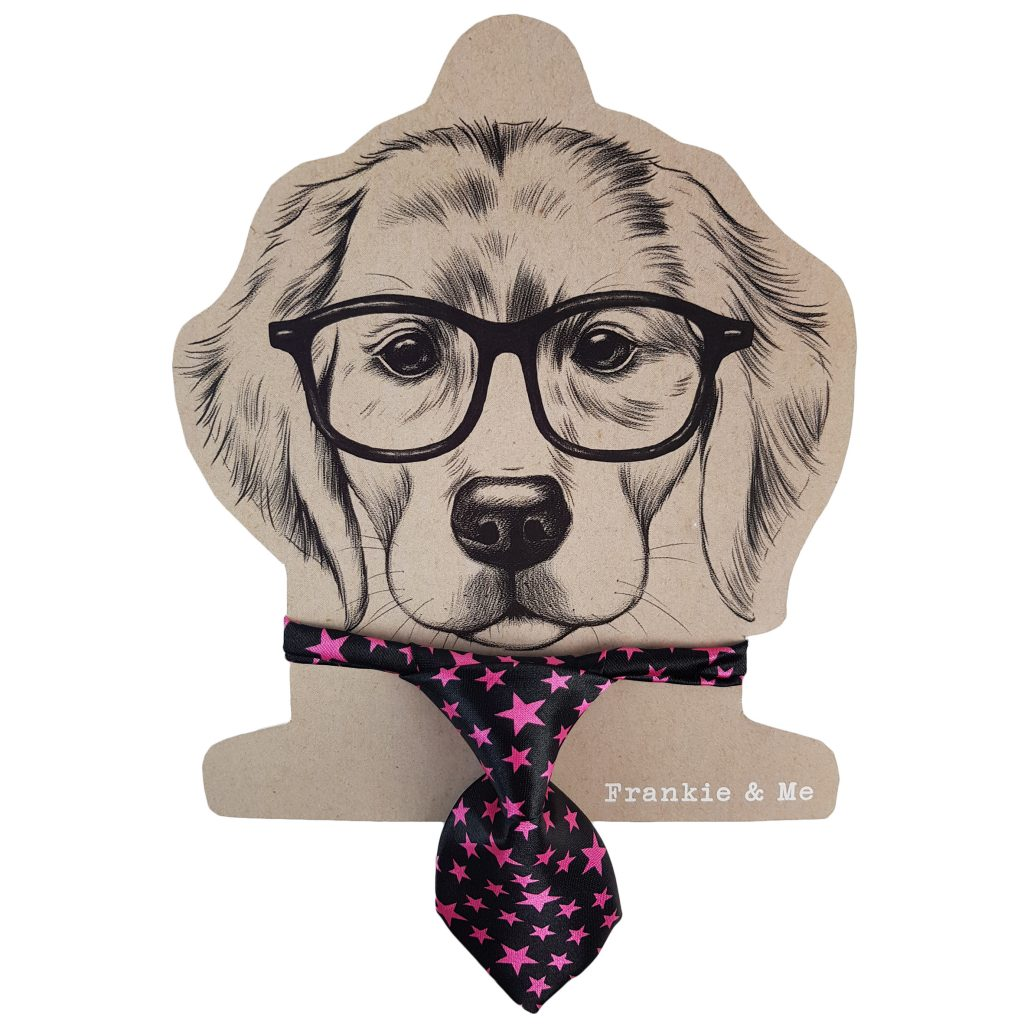 Frankie and Me Pet Accessories Pink Tie