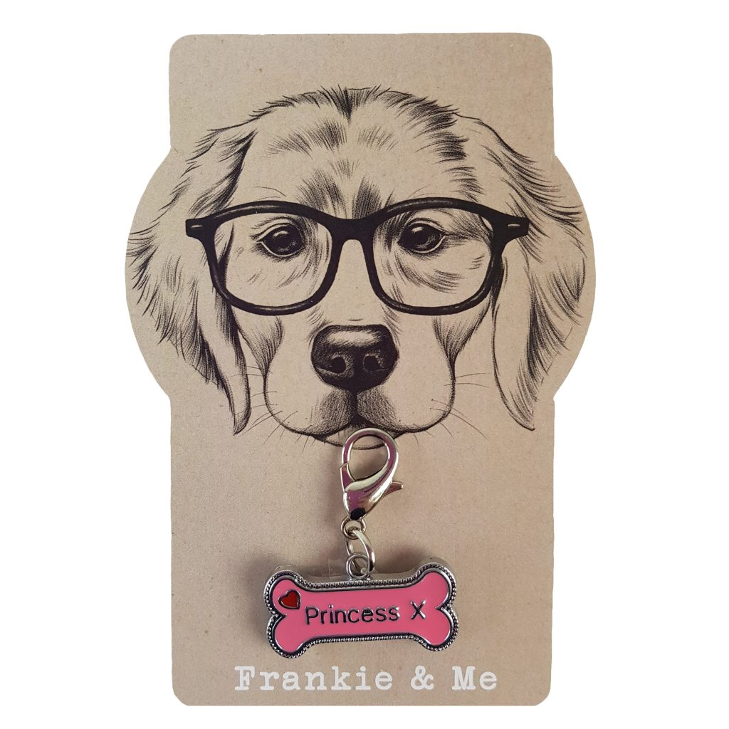 Frankie and Me Pet Accessories Princess Collar Tag