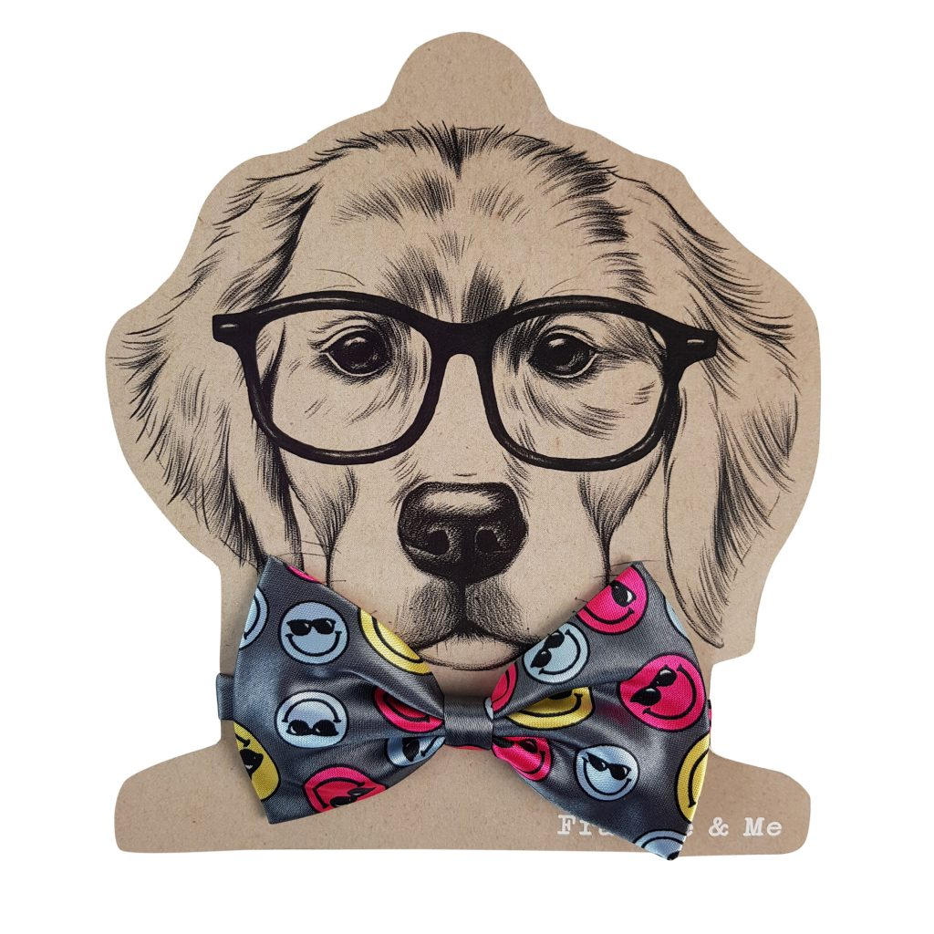 Frankie and Me Pet Accessories Smiley Bowtie