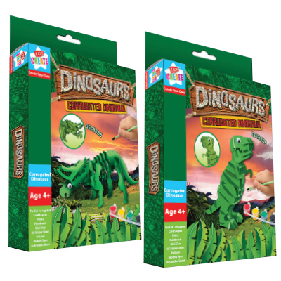 Kids Create DINOSAUR CORRUGATED CARD PUZZLE