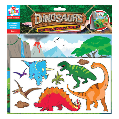 Kids Create DINOSAUR MAKE A SCENE AND STICKERS