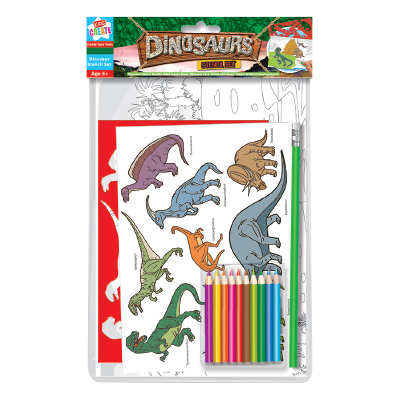 Kids Create Dinosaur Stencil Set