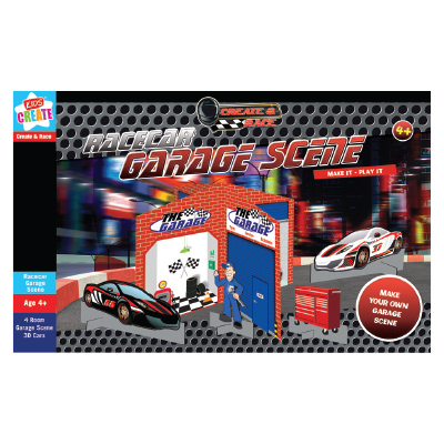 Kids Create Race Car Garage Scene