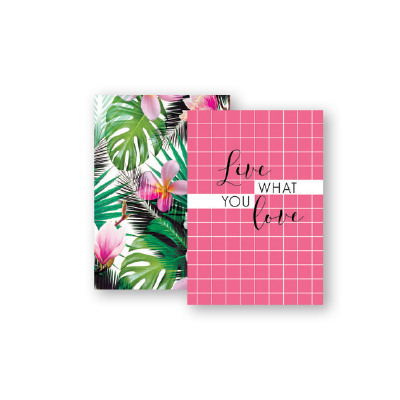 Paper Craft A6 SPIRAL NOTEBOOK TROPICAL