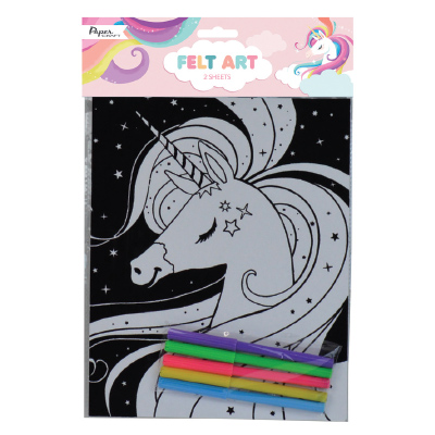 Paper Craft UNICORN FELT ART