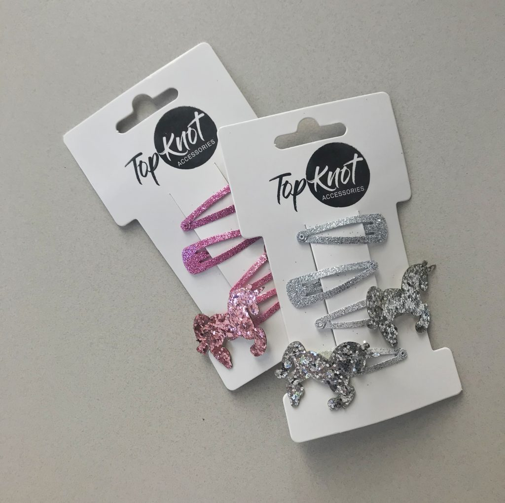Top Knot Unicorn Clips