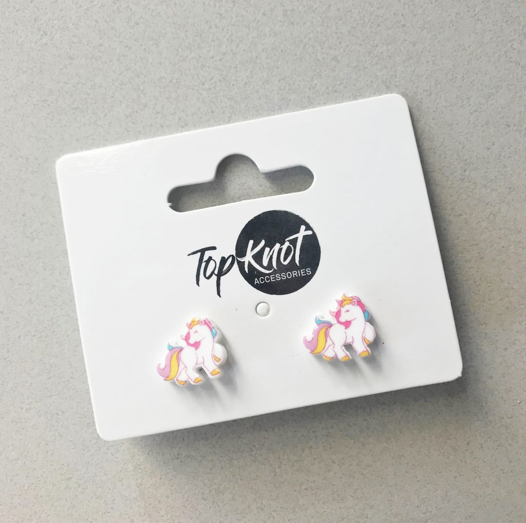 Top Knot Unicorn Earrings