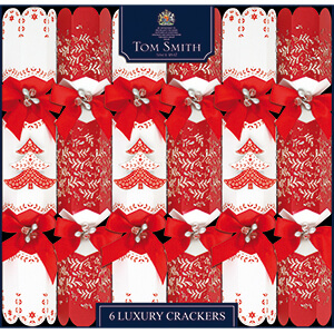 XAHTS2702 Red & White Luxury Crackers