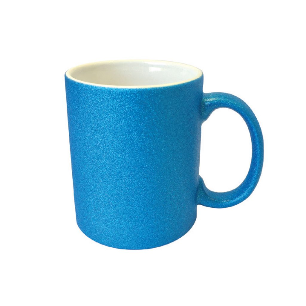 frankie and me Premium Glitter Mug Blue Glitter