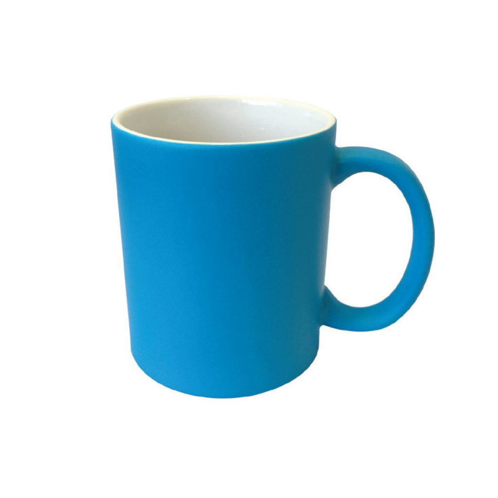 frankie and me Premium Soft Touch Neon Blue Mug