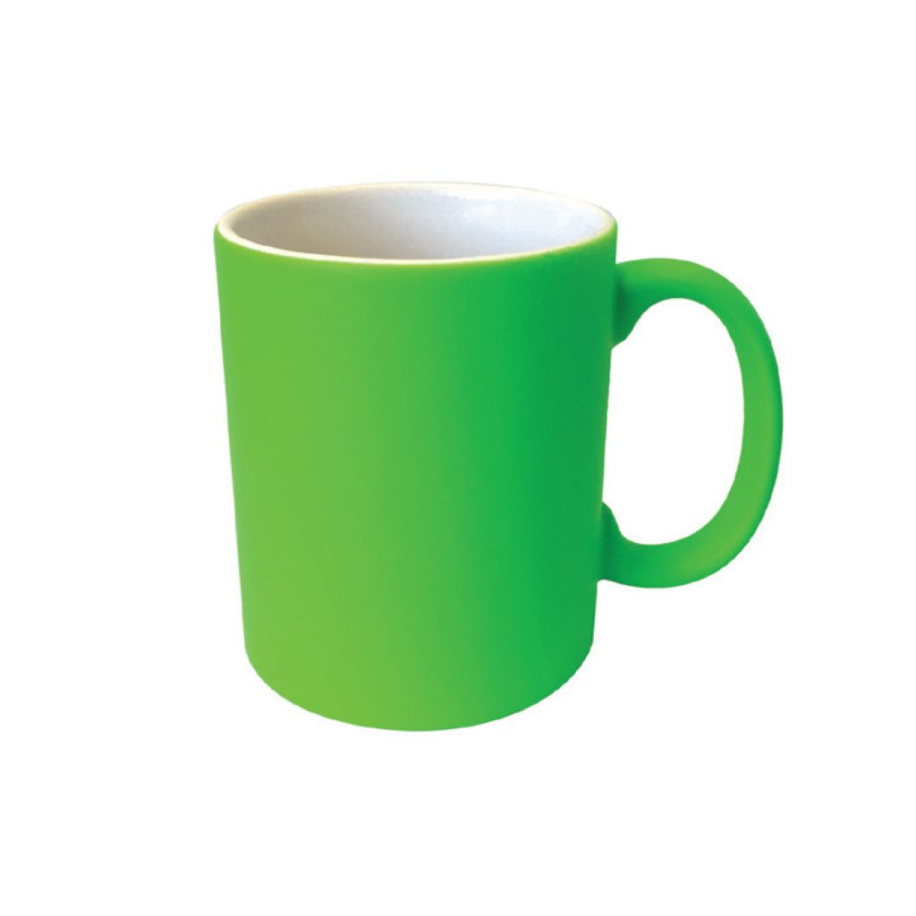 frankie and me Premium Soft Touch Neon Green Mug