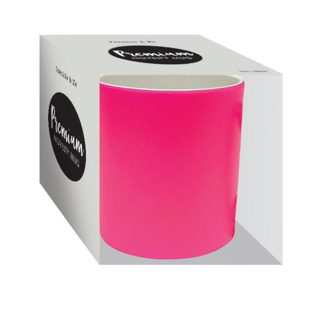 frankie and me Premium Soft Touch Neon Pink Mug