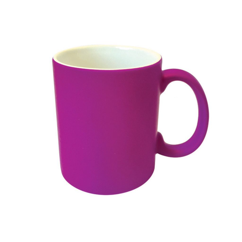 frankie and me Premium Soft Touch Neon Purple Mug