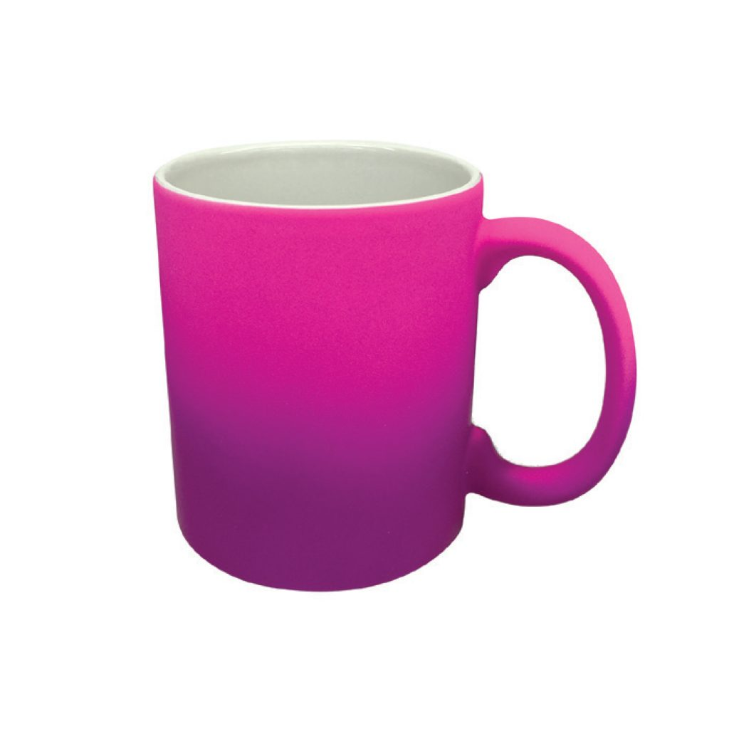 frankie and me Premium Soft Touch Ombre Pink Purple Mug