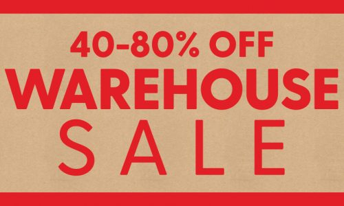 40-80% off Warehouse Sale