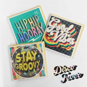 World Greetings Disco Fever Square