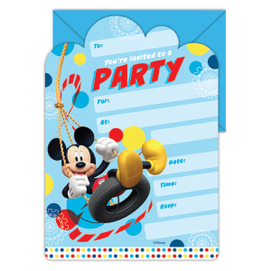 E2410 Mickey Mouse Invite Pad