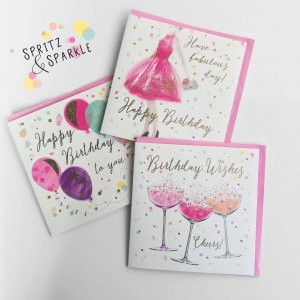 World Greetings Spritz & Sparkle Square