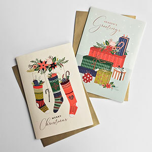 Rectangle Traditional Christmas Boxed Card Variety 1