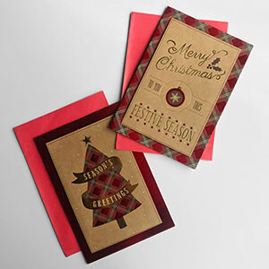 Rectangle Traditional Christmas Boxed Card Variety 2
