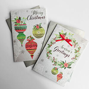 Rectangle Traditional Christmas Boxed Card Variety 3
