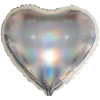 Iridescent Heart Foil Balloon
