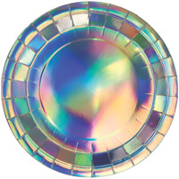 Iridescent Paper Plate