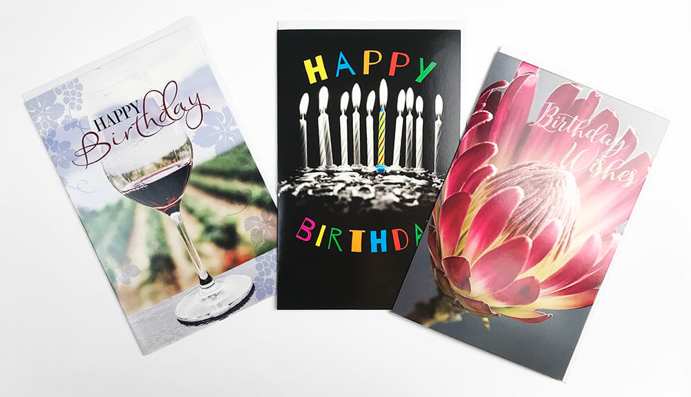 Snapshots 3 x Birthday Cards