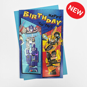 HAS18662 BUMBLEBEE AND OPTIMUS PRIME PREMIUM CARD